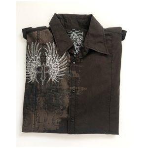 Roar Button Down Shirt XL Long Sleeve